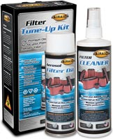 AIRAID filters can be easily cleaned using the AIRAID Filter Tune-Up Kit, p/n 790-551, or the Premium Dry Filter Cleaning Solution, p/n 790-558
