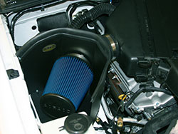 An AIRAID 512-179 Cold Air Dam Intake System installed on a Toyota FJ Cruiser 1GR-FE 4.0L V6