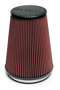 The AIRAID 250-324 cold air dam air intake kit includes a washable and reusable AIRAID 700-469 universal air filter.