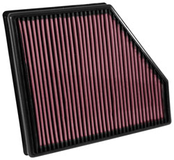 High-flow AIRAID 850-047 replacement air filter for Chevrolet Camaro SS