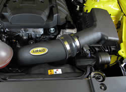 AIRAID MIT installed in the engine bay 2015 2.3L EcoBoost Mustang