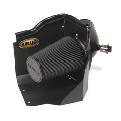 The AIRAID 202-187 cold air dam air intake is engineered to give larger amounts of cooler air to assist the engine to produce more horsepower and torque.