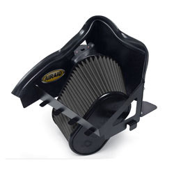 The AIRAID 302-128 cold air dam air intake system is designed to replace the stock air box, air filter, and intake tubing.