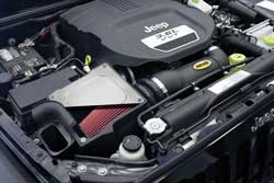 At the core of the AIRAID Jeep Wrangler JK 3.6L MXP intake system is a one-piece rotationally molded polyethylene air filter box which replaces the restrictive factory air box