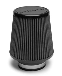 The 360-degree conical AIRAID filter features non-woven synthetic filter media that is washable and reusable.