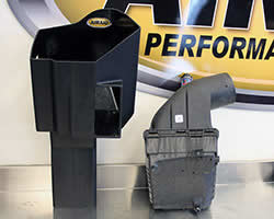 Air box for the AIRAID air intake for the 2011 Chevy Silverado 2500HD with a 6.6L LML Duramax Diesel engine