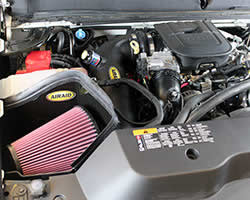 AIRAID air intake installed in the 2011 Chevy Silverado 2500HD with a 6.6L LML Duramax Diesel engine