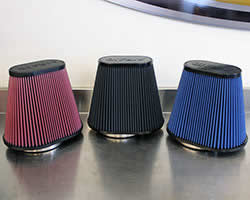 AIRAID air intake air filters include red SynthaFlow and red, black and blue SynthaMax filter media