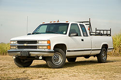 Chevy truck with first generation Vortec engine