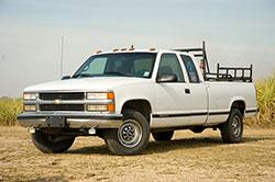 Chevy truck with first generation Vortec engine