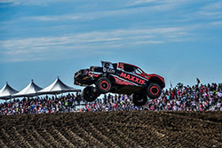 Jeremy McGrath getting air at Estero Beach in the Lucas Oil Off-Road Series in June