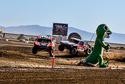 Jeremy McGrath leading Patrick Clark at Estero Beach in the Lucas Oil Off-Road Series in June