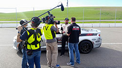 MAVTV camera crew and AIRAID driver Jordan Priestley