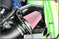 AIRAID intakes replace the factory air box with a more open design