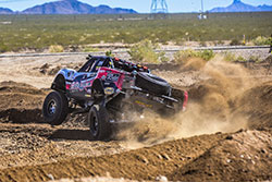 Matt Lovell attacks the course in his AIRAID-equipped truck at the Mint 400