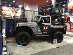 Jeep Wrangler at SEMA Booth with AIRAID