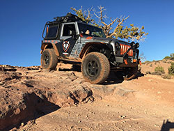 Jeep Wrangler in Moab with AIRAID