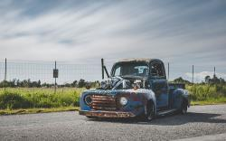 Old Smokey F1, a 1949 Ford F1 with twin turbo Cummins motor