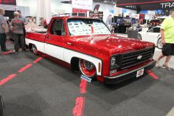 Square body C10 with AIRAID filter at 2016 SEMA show