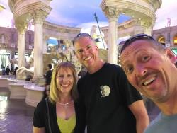 Shot of Chris with wife Lynda and Randy Johnson enjoying the hotels of Las Vegas during SEMA week