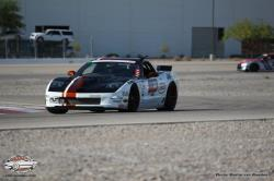 Front view os Randy Johnson's DZ06 on the road course, looking mean!