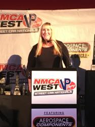 Shot of Camee Edelbrock sharing an uplifting message from her father Vic Edelbrock Jr.
