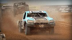 Brock Heger leading the entire race in his AIRAID Prolite