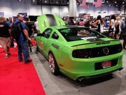 Nikki Frost's Gotta Have It Green 2013 Ford Mustang GT at the 2013 SEMA Show