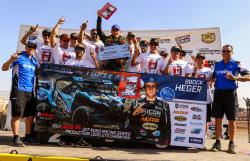 AIRAID-sponsored Brock Heger celebrating his championship with his entire team