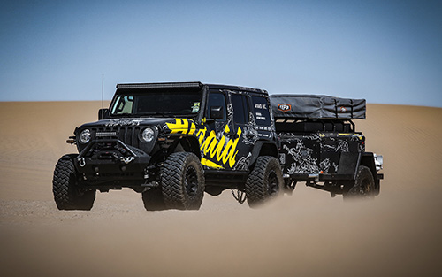 The Airaid Jeep will be participating in the 2019 Rebelle Rally