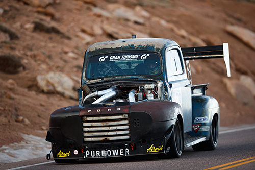 Old Smokey at Pikes Peak International Hill Climb: front view