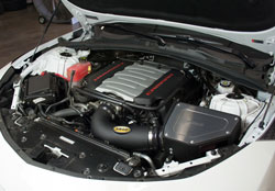 The replacement of the airbox both increases flow and reduces incoming engine heat