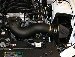 An AIRAID 452-304 MXP High Performance Intake System installed on an S-197 Ford Mustang GT 4.6L