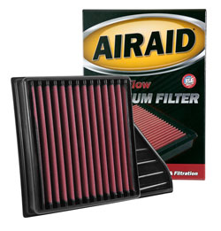 A full set of illustrated installation instructions are included with the AIRAID Filter