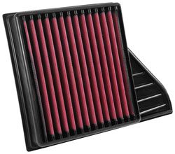 The AIRAID 851-500 replacement air filter features a dry multiple layered media