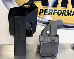 Air box for the AIRAID air intake for the 2011 Chevy Silverado 2500HD with a 6.6L LML Duramax Diesel engine