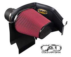 AIRAID Cold Air Dam (CAD) System 350-210 fits 2011-2015 Dodge Challengers, Chargers, and Chrysler 300Cs equipped with a V6 engine as well as the 5.7L and 6.4L HEMI V8 engines