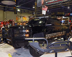 Chevy Silverado in the Steelcraft Booth at SEMA 2015