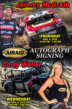 7-time 250cc AMA Supercross champion Jeremy McGrath and pro off-road short course racer Corry Welle