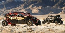 Can-Am Maverick UTVs in the desert