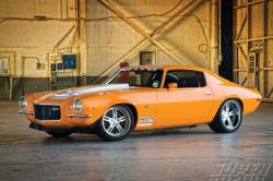 Driver side view of D&Z Customs built Orange Peeler Camaro