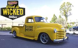 Photo of the 1952 Chevy Pickup after the 5 day Marathon Makeover.