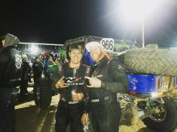 Picture of Jason Blanton at the end of the 2017 King of the Hammer's
