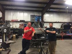 Picture of Randy Rodd and Shane Chiddix at Jimmy's 4x4 Off Road talking chassis mod's