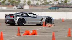 Photo of Jordan on the autocross course at LS Fest West in Las Vegas