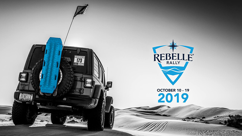 Rebelle Rally jeep in the desert