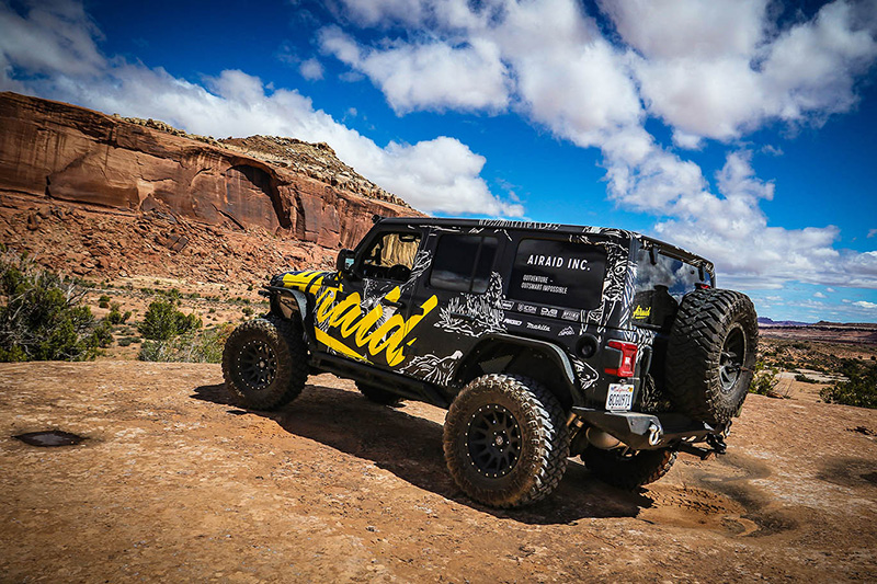 Airaid jeep in Moab, Utah