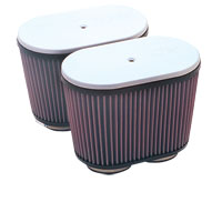 "K&N Dual Oval Air Filter for ""Early Type"" Hilborn and Other Injectors for V.W. Air-cooled Engines"